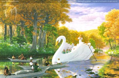 Farewell to Lórien, by Ted Nasmith